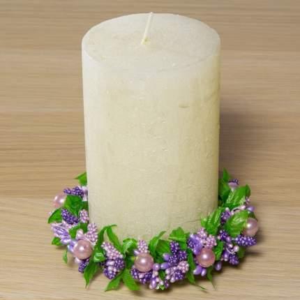 Венок для свечи Жемчужные Ягоды 11 см E203-L