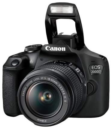Зеркальный фотоаппарат Canon EOS 2000D 18-55 Black + фотосумка