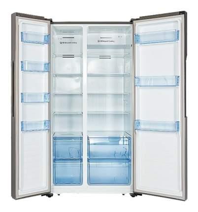 Холодильник Hiberg RFS-67D NFS Silver/Grey