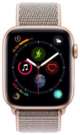 Смарт-часы Apple Watch Series 4 40mm Gold Al/Pink Sand Sport Loop (MU692RU/A)