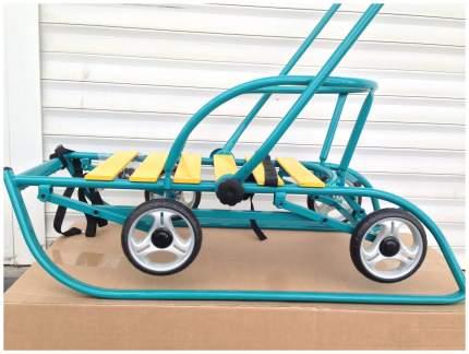 Санки детские Санимобиль Премиум с колесами Бирюзовый