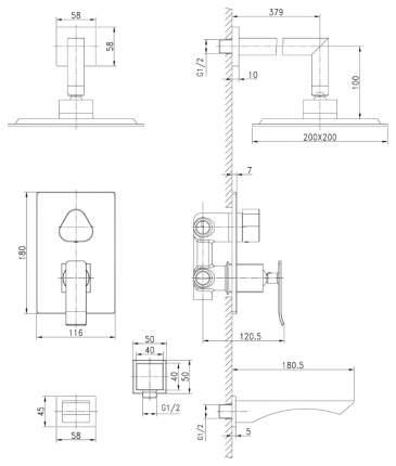 Смеситель для ванны LEMARK Contest LM5822CW хром/белый