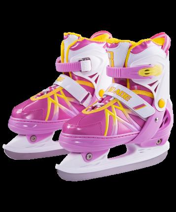 Коньки прогулочные Ice Blade Taffy розовые/белые/желтые, 38-41
