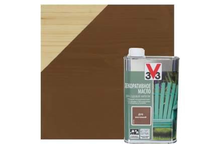 Декоративное масло для садовой мебеди 3V3 0.5л. дуб
