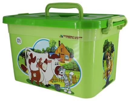 ПОЛИМЕРБЫТ Ящик для игрушек 6,5л СОЮЗМУЛЬТФИЛЬМ 31x20x18 см уп 8 шт 80945