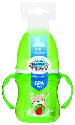 Поильник Canpol EasyStart Colourful animals зеленый 120 мл, 6м+