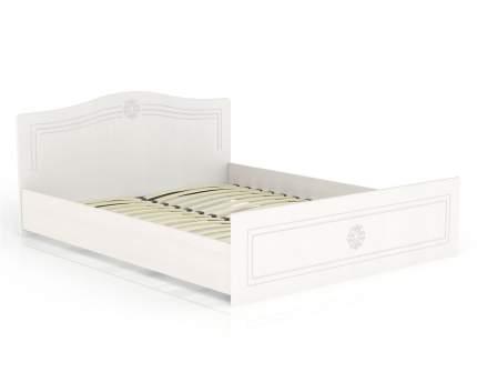 Кровать 1600 Мебельный Двор Онега белая КР-1600 167х204х84, сп. м. 1600х2000 мм.