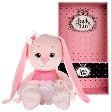 Мягкая игрушка ack and Lin Зайка Lin в платьице со звездочками