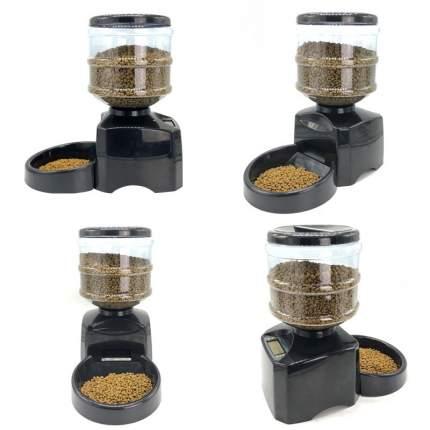 Автоматическая кормушка для кошек и собак 2emarket, черная, 5,5 л