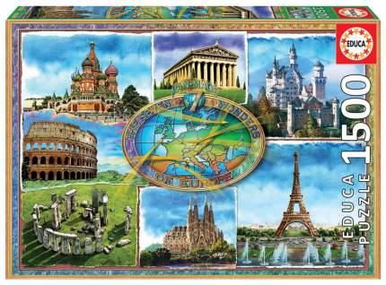 Пазл Educa Семь чудес Европы 1500 элементов