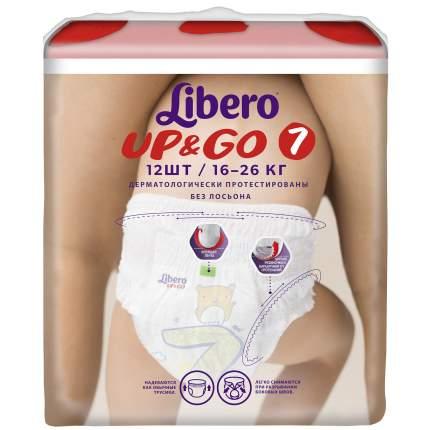 Подгузники-трусики Libero Up&Go Size 7 (16-26кг), 12 шт.