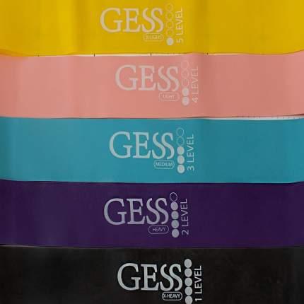 Набор фитнес-резинок Gess Flex Set 5 шт.
