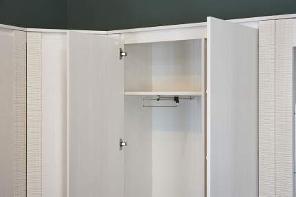 Платяной шкаф Hoff Элана 80295995 101х208,5х41, бодега белая/сандал белый матовый