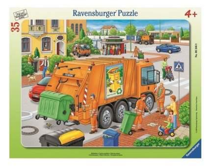 Пазл ravensburger «вывоз мусора» 35 элем.