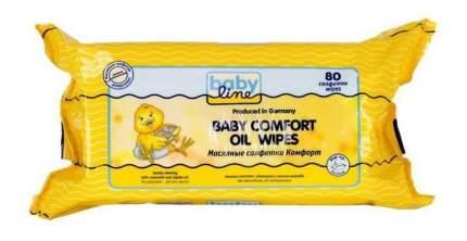 Детские влажные салфетки Babyline Комфорт с маслом жожоба 80 шт.