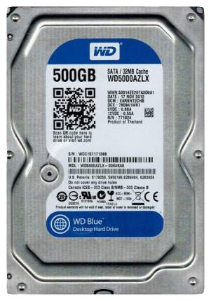 Внутренний жесткий диск Western Digital Blue 500GB (WD5000AZLX)
