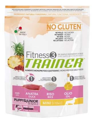Сухой корм для щенков TRAINER Fitness 3 Puppy&Junior Mini, для мелких пород, утка, рис,2кг