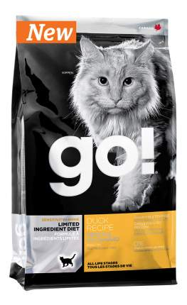 Сухой корм для кошек и котят GO! SENSITIVITY + SHINE, утка, 0,23кг