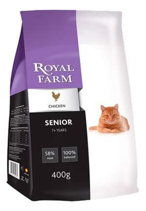 Сухой корм для кошек ROYAL FARM Senior, для пожилых, курица, 0,4кг