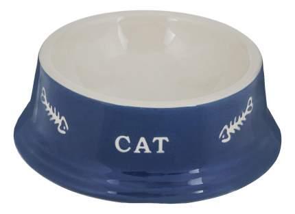 Одинарная миска для кошек Nobby, керамика, синий, белый, 0.2 л