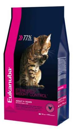 Сухой корм для кошек Eukanuba Sterilised/Weight Control, курица, 10кг