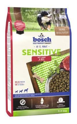 Сухой корм для собак Bosch Sensitive, для чувствительного пищеварения, ягненок, рис, 3кг