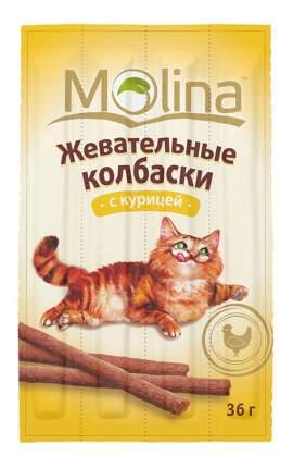 Лакомство для кошек Molina Жевательные колбаски с курицей, 36г