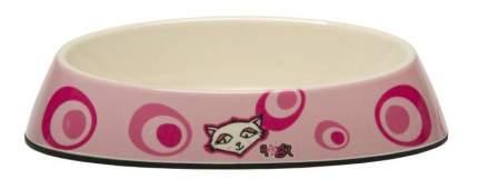 Одинарная миска для кошек Rogz, силикон, керамика, розовый, 0.2 л