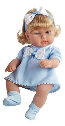 Кукла Arias Elegance в голубом платье с бантиком, 33 см