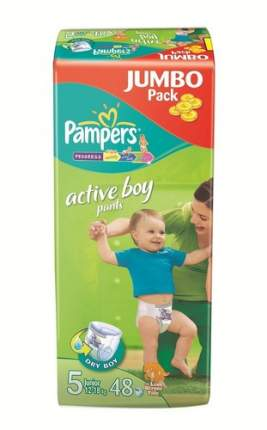 Подгузники-трусики Pampers Active Boy Junior (12-18 кг), 48 шт.