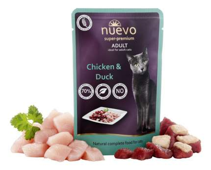 Влажный корм для кошек nuevo, курица, утка, 85г