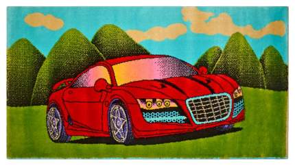 Ковер детский Kamalak tekstil красная машинка 60х110 УКД-2069