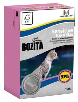 Влажный корм для кошек BOZITA Sensitive Hair & Skin, лосось, 190г