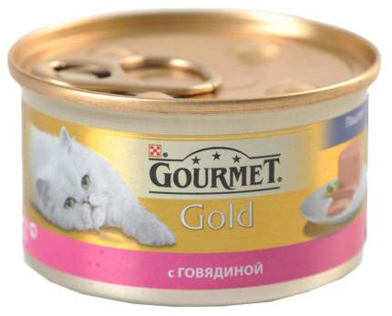Консервы для кошек Gourmet Gold, говядина, 85г