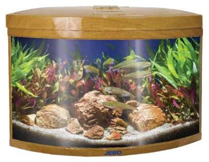 Аквариум для рыб Jebo R 470, бесшовный, светлое дерево, 186 л