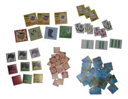 Семейная настольная игра ИгриКо Карта карибских пиратов
