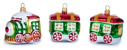 Набор елочных игрушек Елочка Весёлый паровозик зеленый C1392