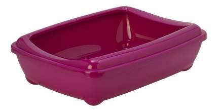 Лоток для кошек MODERNA Arist-o-tray с высоким бортом, ярко-розовый, 50 х 38 х 14 см
