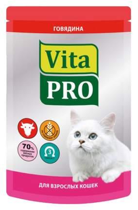 Влажный корм для кошек VitaPRO Мясное меню, говядина, 12шт, 100г