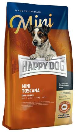 Сухой корм для собак Happy Dog Supreme Mini Toscana, для мелких пород, утка, 1кг