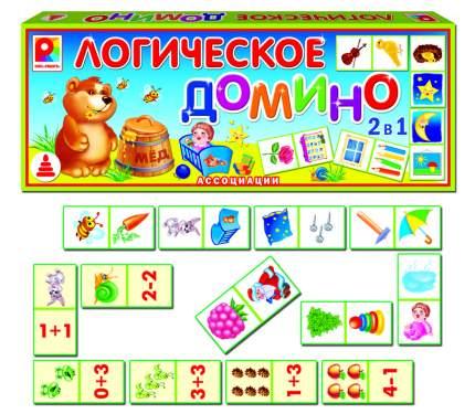 Логическая игра Домино логическое ассоциации Радуга с-652