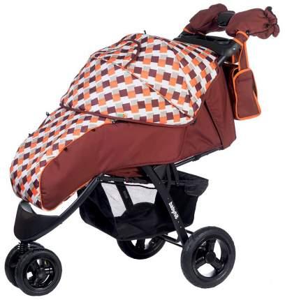 Прогулочная коляска BabyHit Voyage Air коричневая с оранжевым