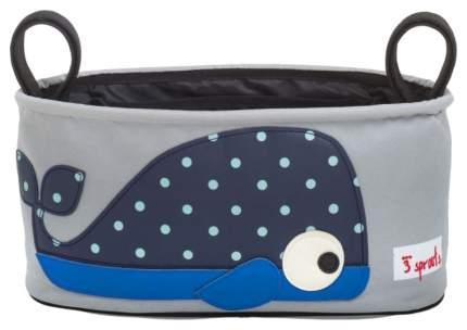 Сумка-органайзер для коляски 3 Sprouts Синий кит