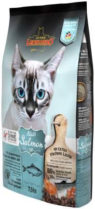 Сухой корм для кошек Leonardo Adult Salmon GF, беззерновой, лосось, 7,5кг