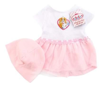 Комплект одежды Hello Kitty Платье и шапочка 40-42 см Карапуз