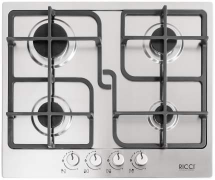 Встраиваемая варочная панель газовая RICCI RGN-ST 4001 IX Silver