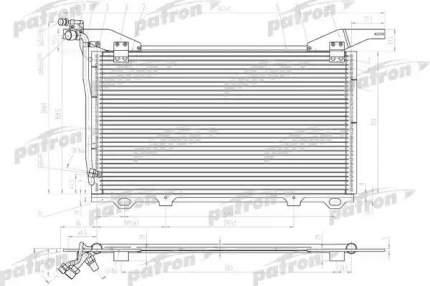 Радиатор кондиционера автомобильный PATRON PRS1098