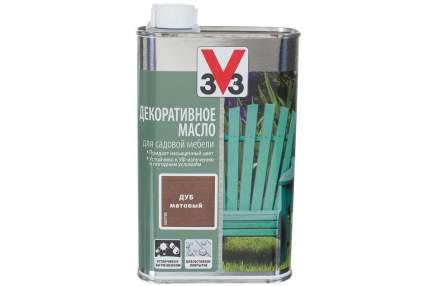 Декоративное масло для садовой мебеди 3V3 0.5л. бирюза