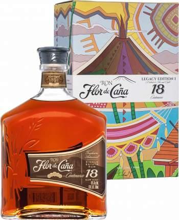 Flor De Cana centenario 18 yo (gift box)