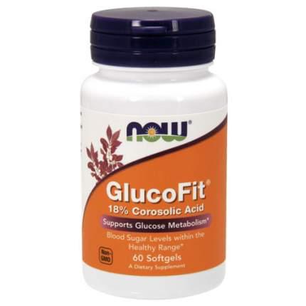 NOW GlucoFit (60 softgels) - препарат для снижения сахара в крови